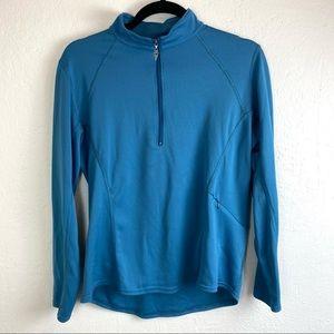 Kerrits Half zip pullover blue Large zip pocket